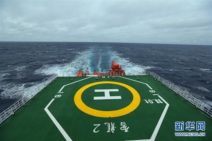 """""""雪龍2""""號首次進入南極地區"""