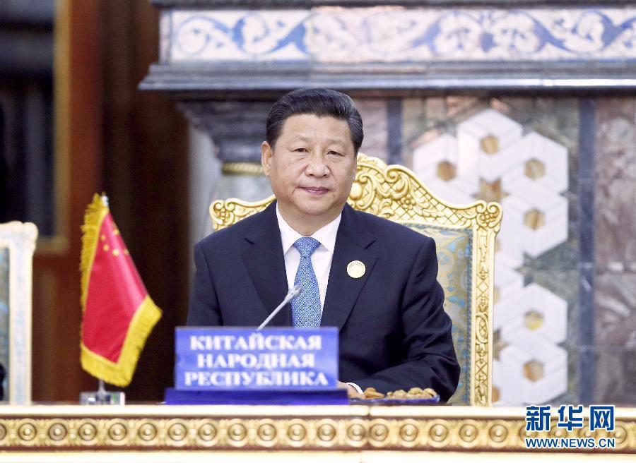 2014年9月12日,上海合作组织成员国元首理事会第十四次会议在塔吉克斯坦首都杜尚别举行。习近平出席会议并发表重要讲话。