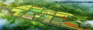 天景现代农业试验示范区开工建设