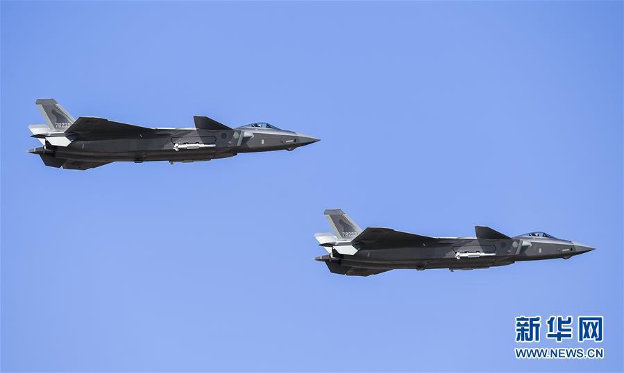 (军事)(1)歼-20、运-20首次在东北地区进行飞行展示