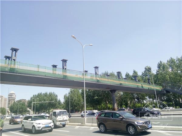 长春吉大东门天桥预计最快6月初投入使用