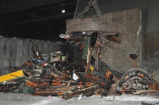 吉林省集中销毁非法枪爆物品 销毁非法枪支2282支
