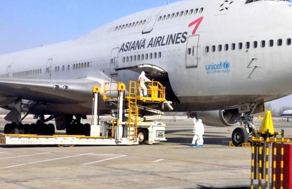 长春机场全力保障牛年第一架国际航班